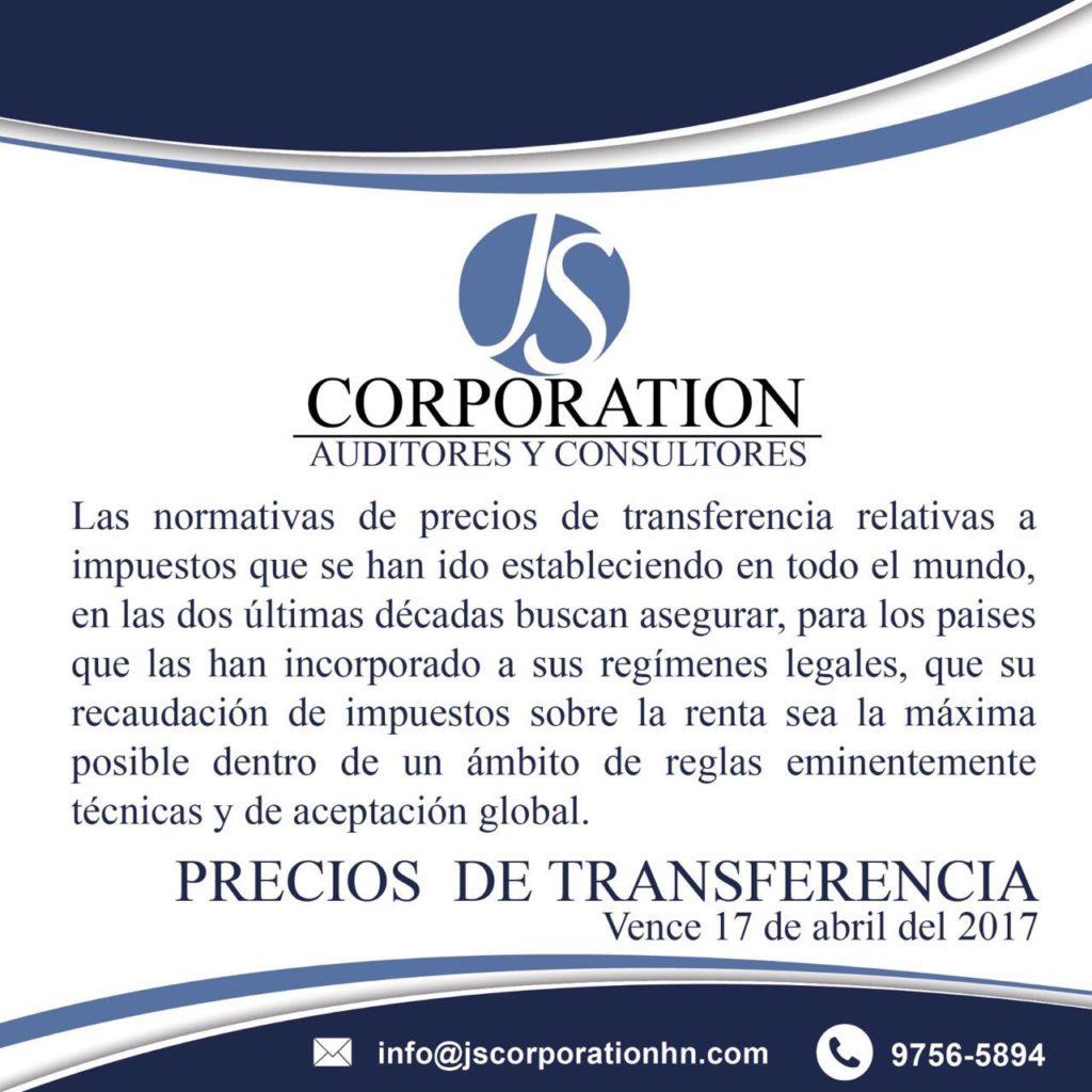 Precios de Transferencia nueva normativa de impuestos.